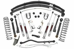 Rough Country 4 5 Lift Kit Fits 84 01 Jeep Cherokee Xj X Series N3 Shocks