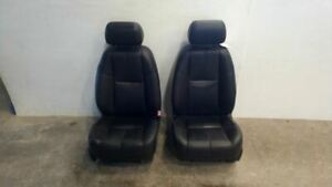 Pair Of Front Power Black Leather Bucket Seats From 2011 Silverado 2500 7399664