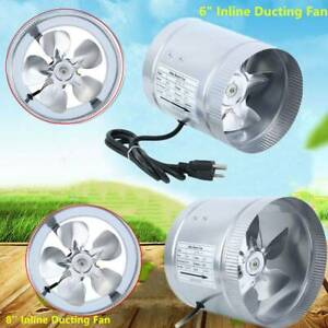 6 8 Inch Inline Blower Fan Blower Duct Booster Exhaust Ducting Cooling Vent
