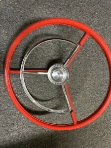1957 Ford Tbird Thunderbird 17 Inch Steering Wheel Red