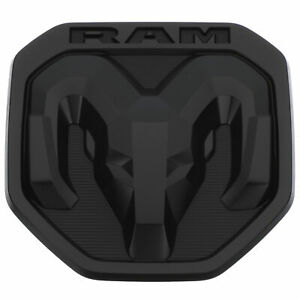 New Tailgate Dodge Rams Head Emblem Badge Matte Black For 2019 2020 Ram 1500