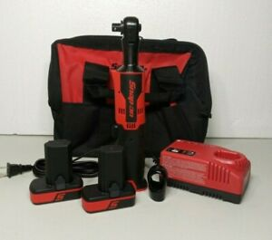 New Snap On 14 4v Microlithium Cordless Ratchet Kit 2 Batteries Charger Case