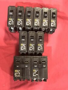 Qty Of 11 Square D Circuit Breakers 240v Hom115 120 225 245