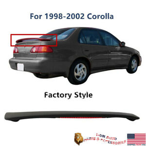 Fit For Toyota Corolla 1998 2002 Factory Style Trunk Spoiler Led Brake Lamp