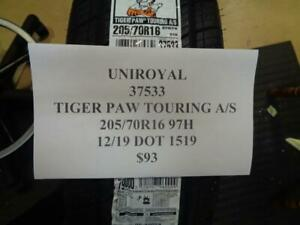 4 New Uniroyal Tiger Paw Touring A S 205 70 16 97h Tires W Label 37533 Q9 Fsr4
