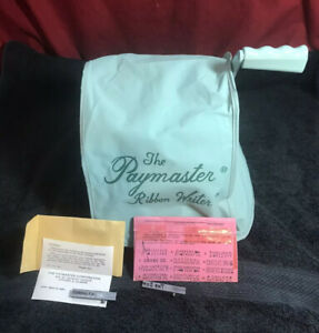 Paymaster Ribbon Writer Series 8000 Check Writer W key Cover Extra Plates