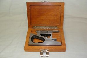 Fowler Planer And Shaper Gauge W 4 Extension In Original Wooden Box