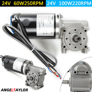 Right Angle Electric Worm Gear Motor Door Encoder Brushed Dc 24v Fast Shipping