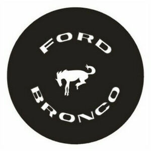 15inch Spare Tire Cover For Ford Bronco Logo Soft Vinyl Wheel Tyre Cover New