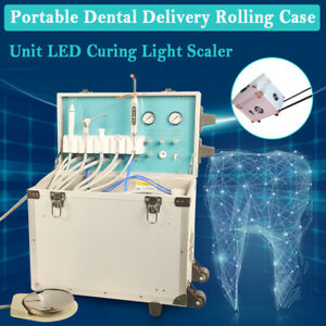 Dental Delivery Unit Rolling Box Air Compressor scaler curing Light Best Sell