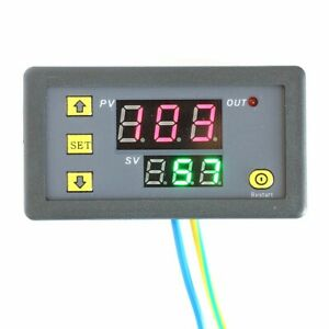 12v Timing Delay Relay Module Cycle Timer Digital Led Dual Display 0 999 Hours