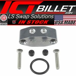 Ls Ls1 1 8 Dual Outlet Oil Feed Adapter Plate 90 Degree