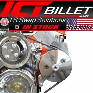 Sbc Power Steering Pump Bracket Kit for Long Water Pump