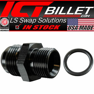 Ls Truck Turbo Oil Drain Pan Adapter 10an Hose To Oil Pan