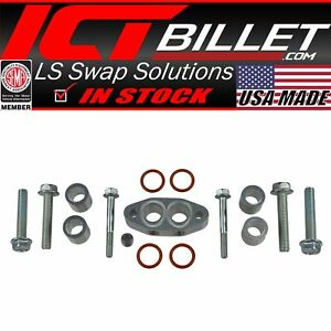 Ls Turbo Oil Feed Line Adapter Cooler Spacer For Ls3 Camaro Supply Hose