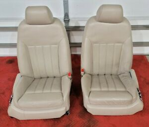 Bentley Continental Flying Spur Front Seats Left Right Pair Leather Beige Sedan