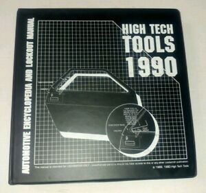1990 High Tech Tools Encyclopedia Vol 2 Automotive Locksmith Domestic Foreign