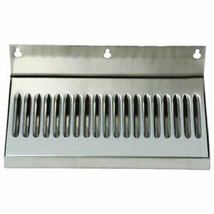 New Stock Draft Beer Drip Tray wall Mount No Drain Stainless Steel 10 X 6