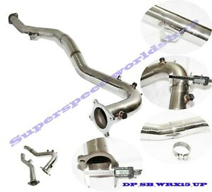 Ss Hi Flow 3 Downpipe Exhaust J Pipe Fit 15 19 Wrx15 18 Forester 20t Manual Fits Subaru