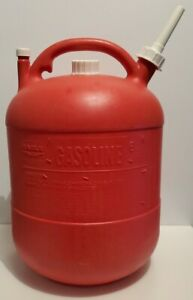 Rare Pre Ban 6 Gallon Eagle Vented Gas Can Fuel Container Round Red Plastic Pg 6