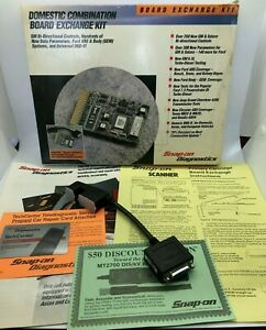 Snap On Scanner Jeep Adapter Cable Mt2500 Diagnostics Board Exchange Kit Box Lot
