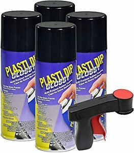 Plasti Dip Gloss Black Wheel Kit 4 Gloss Black Cans And Can Gun Spray Grip