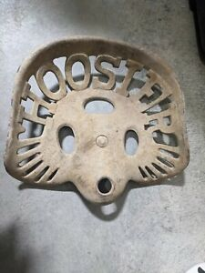 Antique Vintage Hoosier Cast Iron Tractor implement Seat 254