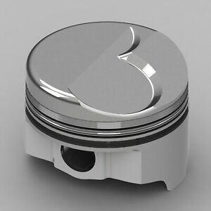 Chevy Fits 427 Rod 6 135 Dome 81 91cc V2 Icon Forged Piston Set Size 040