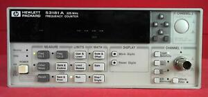 Hp agilent keysight 53181a Rf Frequency Counter 10 Digits s