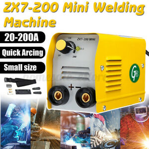 110v 200a Mini Electric Welding Machine Igbt Dc Inverter Arc Mma Stick Welder Us
