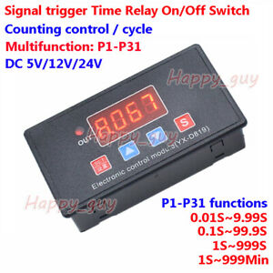Digital Led Programmable Delay Time Turn On off Cycle Timer Relay Control Switch