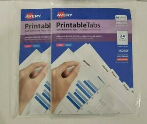 Avery Printable Tabs 1 1 4 96 Tabs Self adhesive Tabs Lot Of 2