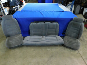 94 95 Ford Mustang V6 Oem Front Rear Seat Seats Gray Take Offs 96 97 98 R33