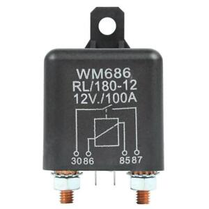 12v Dc 100 Amp Heavy Duty Split Charge winch Relay For Car Van Boat 4 Pin Nigh