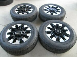 20 Chevy Gmc 2500 3500 Hd Pickup Factory Oem Wheels And Tires Black Machiend