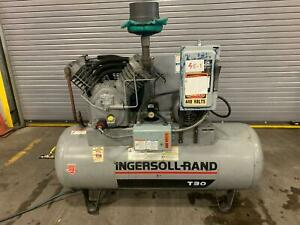 Ingersoll Rand T30 5hp Piston Two Stage Air Compressor 230 440 3 ph 2545 D5 Ir