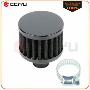 Black 9 Mm Air Intake Crankcase Breather Filter Valve Cover Catch Tank Universal