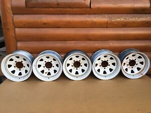 Amc Jeep Cj5 Cj7 Cj8 Factory 15x7 Wagon Wheels Rims Renegade Original Oem Rare