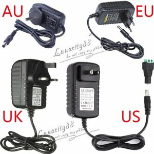 Dc12v 2a 24w Power Supply Charger Transformer free Dc For Led Strip Adapter New