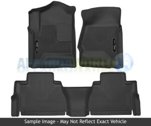 Husky Liners X Act Contour Floor Mats Black For 2012 15 Toyota Tacoma Double