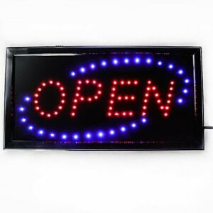Open Led Sign For Business 19x10inch With Two Flashing Mode