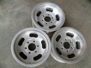 One Vintage Aluminum Slot 15x7 Wheels Rim Truck Pattern 6x5 1 2