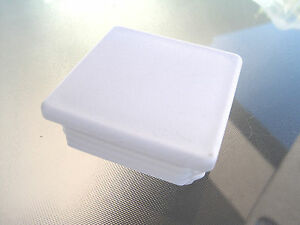 3 White Square Tubing Plastic Hole Plug End Cap 3x3 Fence Post Insert Cover