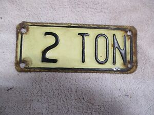Vintage 2 Ton Truck License Plate Topper Accessory Ford Gm Dodge Chevy Tag