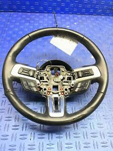 2015 2019 Ford Mustang Leather Steering Wheel Paddle Shift Radio Controls Black