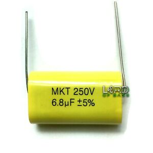 One 6 8uf 250v Metallized Polyester Film Capacitor 5 Audio Crossover Tweeter