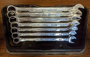 Mac Tools Knuckle Saver Sae Combination Wrench 7 Pc Set With Tray