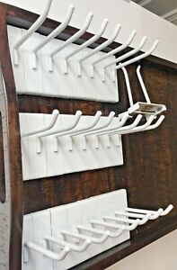 The Container Store 26 Pieces White 4 Gridwall Hooks Grid Panel Display Hanger