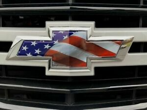 Chevy Tahoe Emblem Bowtie American Flag Overlay Decals Stickers