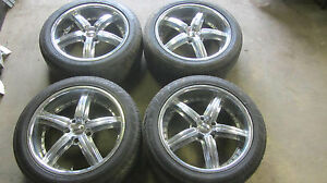 18 Dub Wheels Rims Chevy Impala 5 Lug With Tires 245 45r18 Goodyear Jinyu